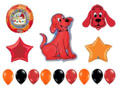 Clifford the Red Dog Birthday Party Balloons