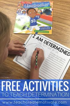 Great and free activities to help teach students determination and perseverance! Counseling Activities, Free Activities, School Counseling, Class Activities, Teaching Character, Character Education, Character Counts, Character Development, Help Teaching