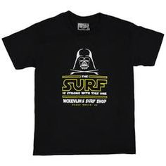 McKevlin's - Distant Galaxy Surf Youth S/S  T - Black