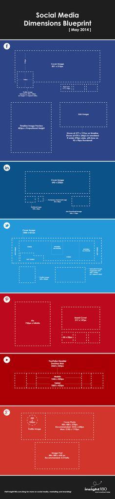 Social media dimensions for graphic design purposes. #socialmedia #graphicdesign #marketing