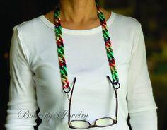 Sunglasses Holder, Chain Messages, Eyeglass Holder, Bracelets, Eyeglasses, Eyewear, Unique Jewelry, Etsy Shop, Beige