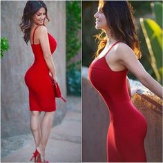 Red Body-con Inspiration Dress