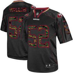 Cheap Mens Nike San Francisco 49ers #52 Patrick Willis Elite Black Camo Fashion NFL Jersey online