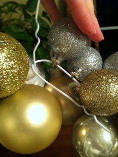 The Penny Parlor: Dollar Store Christmas Ball Wreath-wire hanger Dollar Store Christmas, Dollar Store Crafts, Dollar Stores, Christmas Balls, Winter Christmas, Christmas Wreaths, Christmas Time, Merry Christmas, Christmas Stuff