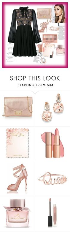 """Rose for Princesss"" by sedinashatri ❤ liked on Polyvore featuring Tiffany & Co., Loeffler Randall, BillyTheTree, Burberry, Maybelline and Giambattista Valli"