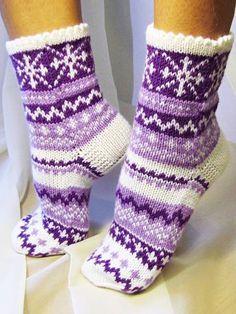 Knitted Slippers, Wool Socks, Slipper Socks, Knit Mittens, Crochet Slippers, Knitting Socks, Hand Knitting, Knit Crochet, Knitting Patterns
