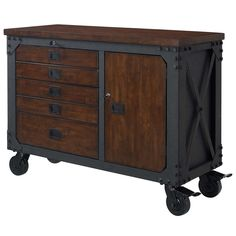"""Whalen 48"""" Metal and Wood Workbench"""