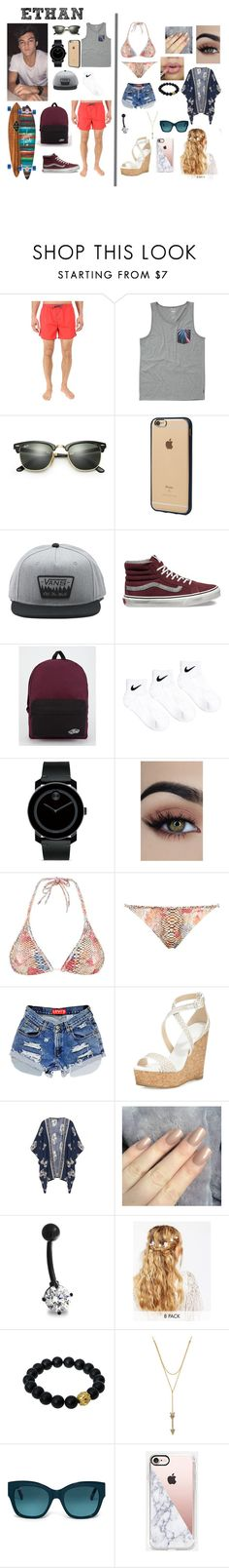 """Untitled #243"" by brie-karitsa-luciano on Polyvore featuring Dolan, BOSS Hugo Boss, Billabong, Ray-Ban, Incase, Vans, NIKE, Movado, Lazul and Jimmy Choo"