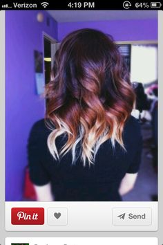 #ombre #blonde #brown #red Super cute but dark colors don't look good on me