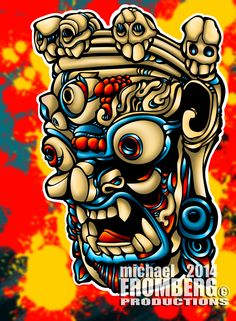 Masked Demon illustration! #Masked_Demon #Michael_Fromberg #Fromberg #Illustration  #Mask