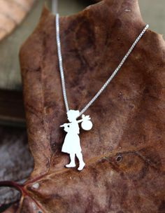Tiny Runaway Girl sterling silver necklace tiny by justplainsimple, $45.00