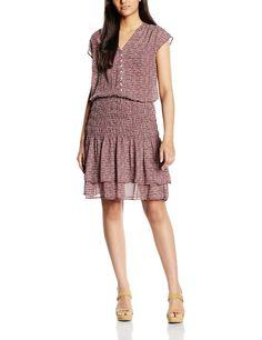 Vestido vestido para mujer hipster manga corta con diseño ceñido a la cadera y volantes.