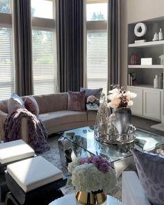 Romantic Living Room, Fall Living Room, Living Room Decor On A Budget, Elegant Living Room, Living Room Designs, Living Room Furniture, Fancy Living Rooms, Elegant Home Decor, Beautiful Living Rooms