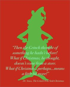 Seuss Grinch Stole Christmas Quote Silhouette by PlainlyGabby Grinch Christmas Party, Grinch Who Stole Christmas, Grinch Party, Christmas Love, Holiday Fun, Christmas Holidays, Office Christmas, Christmas Scenes, Country Christmas