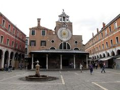 Church of San Giacomo di Rialto, Campo San Giacomo, Venice - oldest church in Venice