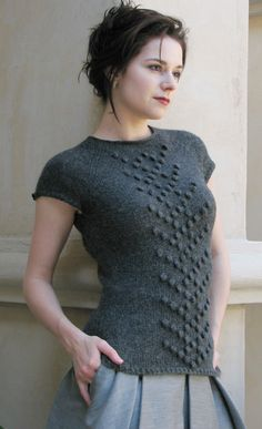 """Free pattern on all free knitting. Camden"""" #free #knit pattern by Ashley Adams Moncrief, published in Knitty Fall 2008"""