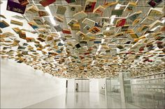If I ever make it back to Istanbul - Suspended books installation at the Istanbul Modern Museum.