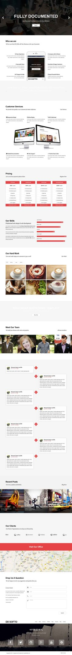 Dx Softo is a powerful and original responsive & parallax HTML template. An eye for a detail makes its design perfect to meet needs of creative people, digital agencies and services. Exline uses Bootstrap 3 and has been coded in HTML5 & CSS3  This Template is designed in a Clean and Minimalistic Style. It is Fully responsive, Very Flexible, Easy for Customizing and Well Documented.