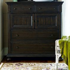 Paula Deen Down Home 4 Drawer Chest - Molasses Multicolor - UNIR1095 - contemporary - Dressers - Hayneedle