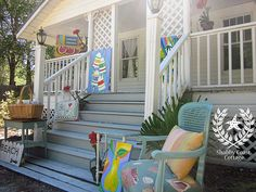 Wooden front porch. House on the beach. Bliss.