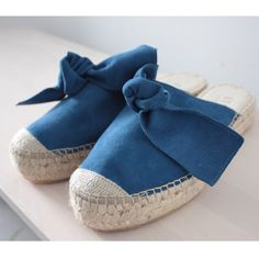 Sanaa mule with bow indian blue Suede Leather, Soft Leather, African Name, Indian Blue, Mule Sandals, Cool Names, Jute, Espadrilles, Passion