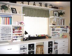 Idea for craft room organization except I don't do crafts. :)