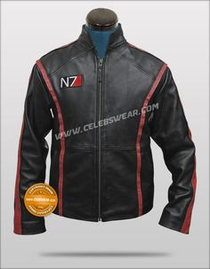 I can take or leave hoodies, but this? Damn... $179.00 - Mass Effect 3 Game Leather Jacket