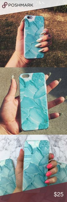 ⚡️FLASH SALE⚡️ Aqua Blue Marble iPhone 6/6s Case Accessorize with this awesome aqua blue, marble iPhone case! Fits iPhone 6 & 6s! Material content includes: rubber! ❓Any questions, feel free to ask!  NO TRADES ‼️PRICE IS FIRM‼️  NOT URBAN OUTFITTERS BRAND!! Just used it for exposure! Urban Outfitters Accessories Phone Cases