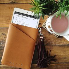 Leather iPad sleeve - By @the1965house - Available on mujjo.com or through resellers worldwide. #mujjo