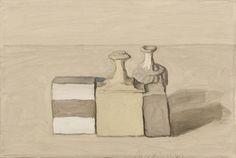 Giorgio Morandi (Italian, 1890-1964), Natura morta [Still Life], 1953. Oil on canvas, 30.3 x 45 cm.