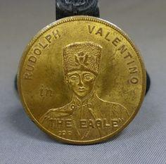 mark strand theater 1925  Rudolph Valentino Movie World Premiere Brass Token