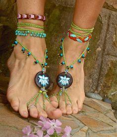 flor de loto de la danza del vientre sandalias Descalzas por GPyoga