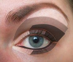 Angelina's make up style, Angelina Jolie, beauty how to Simple Eyeshadow, Eyeshadow Tips, How To Apply Eyeshadow, Eye Makeup Tips, Hair Makeup, Makeup Tricks, Makeup Tutorials, Makeup Ideas, Angelina Jolie Makeup