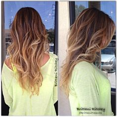 Choclate Brown With Golden Carmel Balayage Highlites