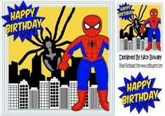 Spider with super hero in the city 8x8 on Craftsuprint - Add To Basket!