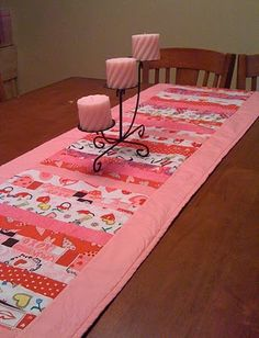 Sew Many Things to Say: Quilted Valentine Table Runner