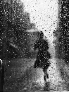 Untitled, 1949   Photo: Tore Johnson. I would like to try and duplicate this with a bride portrait. Wet down the street, and shoot through a pane of wet glass.