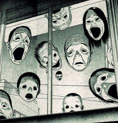 Junji Ito, Arte Horror, Horror Art, Creepy Art, Scary, Dark Instagram, Manga Gore, Art Inspo, Art Sinistre