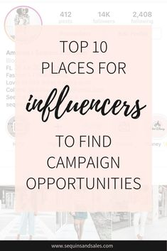 Top 10 Places for Influencers to Find Campaign Opportunities - Influencer Marketing - Ideas of Sell Your House Fast - Top 10 Places to Find Campaign Opportunities Find Instagram, Instagram Story, Sign Up Page, Instagram Marketing Tips, Apps, Instagram Influencer, Marketing Companies, Marketing Ideas, Media Marketing