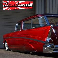 so refreshing to see a 57 Nomad with a bit of Kustom flair. These were great looking cars already but I am so sick of the same half-wit cookie cutter mentality of so many tri-five owners. Chevrolet Bel Air, Gas Monkey, Station Wagon, Rat Rods, Dodge Charger, Rolls Royce, Ford Modelo T, Vintage Cars, Antique Cars