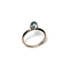White gold engagement ring made with Fairtrade gold and set with a faceted pale blue topaz bead Handmade Engagement Rings, Engagement Ring Settings, Bespoke Jewellery, Gold Platinum, Eternity Ring, Blue Topaz, Handmade Jewelry, Jewelry Design, Bead