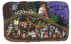 Backyard Fairies, written and illustrated by Phoebe Wahl p i n t e r e s t : abbbygiiirl Children's Book Illustration, Whimsical Art, Faeries, Cute Art, Art Inspo, Folk Art, Fantasy Art, Fairy Tales, Art Photography