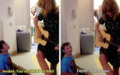 Taylor playing We Are Never Ever Getting Back Together at Boston Children's Hospital for Jordan