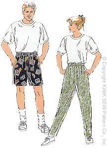 Kwik Sew 2268: Unisex Pants & Shorts