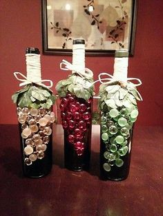 Decorated Wine Bottles ... DIY