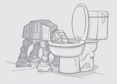 Thirsty AT-AT. This is why we keep the lid down!