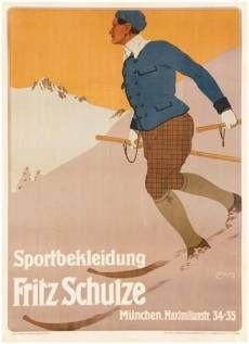 Skimode aus München ---- Skiing Poster, Munich