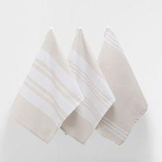 STRIPED COTTON DISH TOWEL (SET OF 3) - Kitchen Accessories - Tableware   Zara Home United States of America