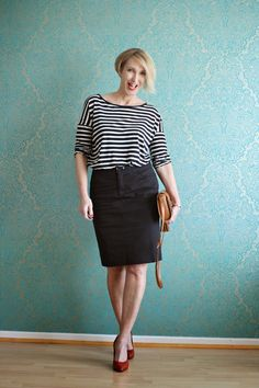And again an outfit with striped shirt