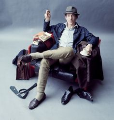 A young and dapper Ian McKellen.